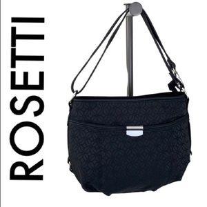 ROSETTI BLACK SILVER SHOULDER / CROSSBODY BAG
